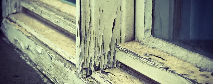 old wood window frame