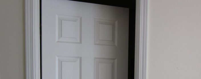 Pre-hung replacement doors are easy to install.