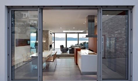 Remove old sliding patio doors to make way for a new window installation, just in time for warm weather!
